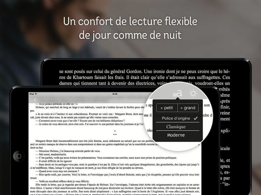 Capture d'écran de l'app Youboox sur iOS